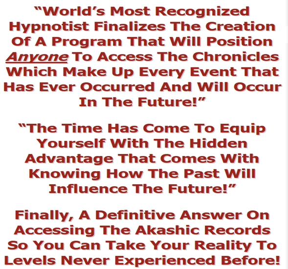 Let Renowned Hypnotist Dr. Steve G. Jones Show You Ancient Indian Spiritual Secrets To Reading Akashic Records