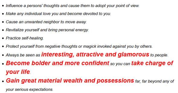 Gain great material wealth and possessions