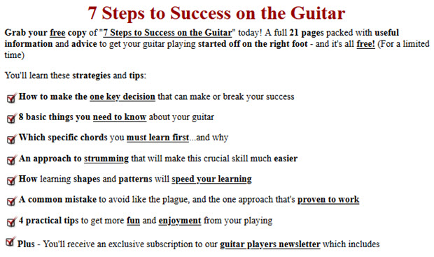 7 Steps to Success on the Guitar