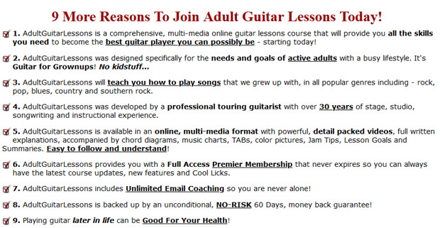 9 More Reasons To Join Adult Guitar Lessons Today