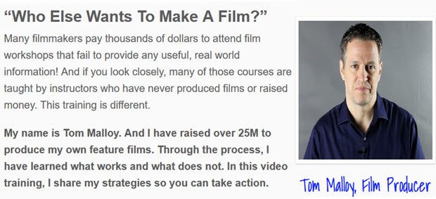 Many filmmakers pay thousands of dollars