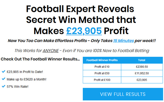 Brand New Football Win Tips Service