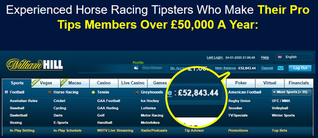 Experienced Horse Racing Tipsters