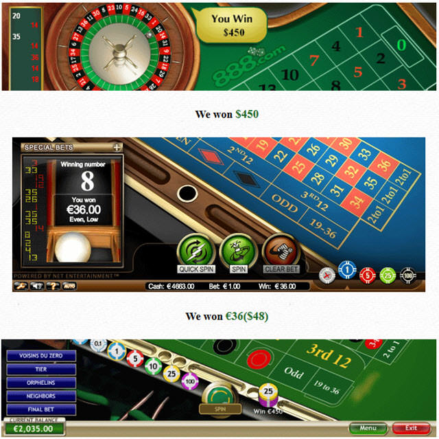Roulette player software