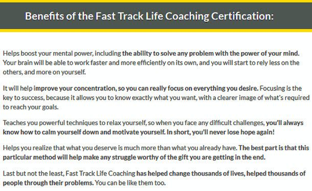 Fast Track Life Coaching Certification
