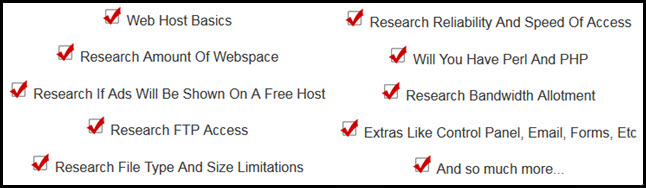 Choosing A Free Web Host