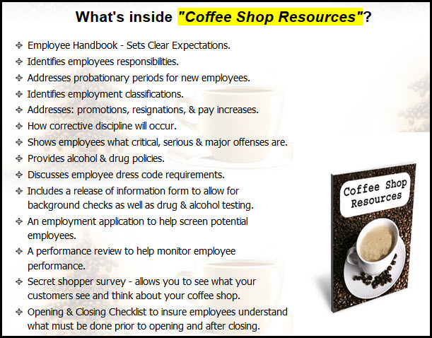 Coffee Shop Resources
