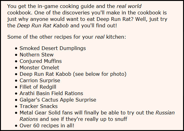 Down Home MMO Cooking
