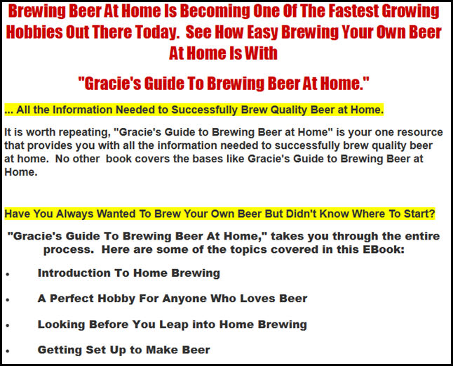 Gracie's Guide to Brewing Beer at Home