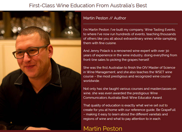 First-Class Wine Education From Australia's Best Martin Peston