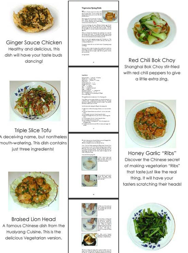Healthy, Low Fat Chinese Vegetarian Cookbook And Recipes