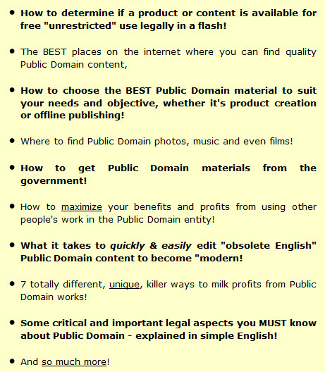 How to choose the BEST Public Domain material