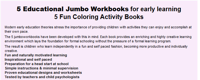 FUN WORKBOOKS FOR PRESCHOOL AND KINDERGARTEN KIDS