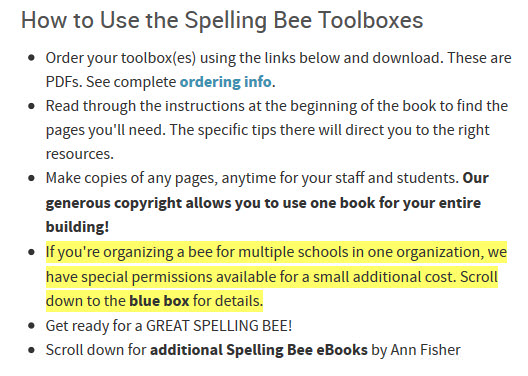 How to Use the Spelling Bee Toolboxes