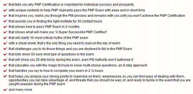 PMP Certification and 2) PMP Exam