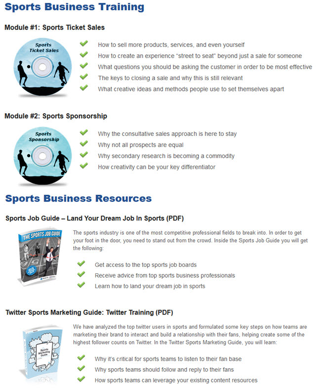 Sports Business Training