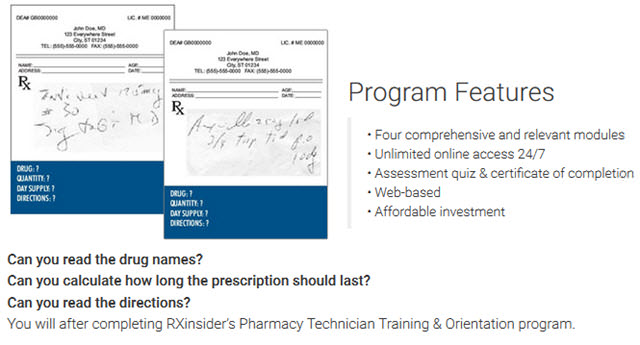 completing RXinsider's Pharmacy Technician Training