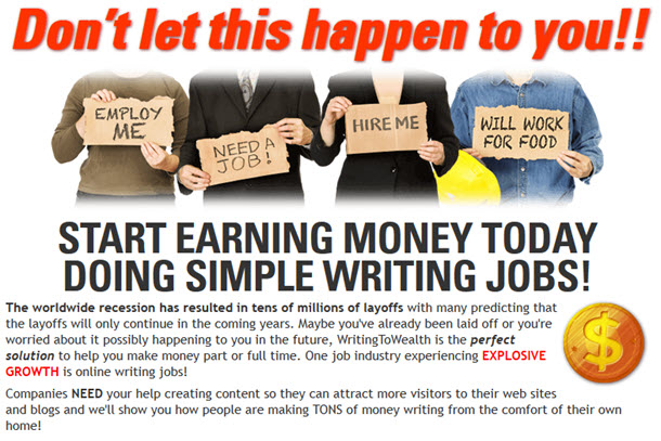 START EARNING MONEY TODAY DOING SIMPLE WRITING JOBS