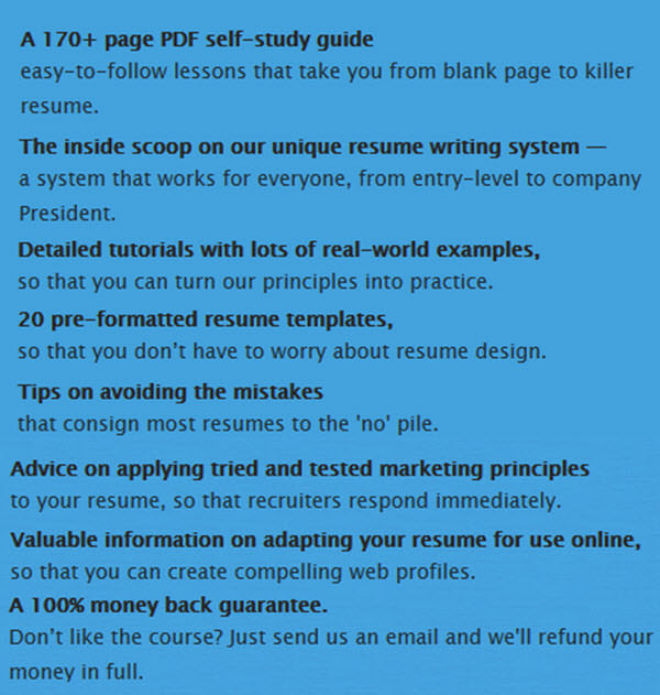 Cover Letter and Resume Creator Writing Tips Guides and Software