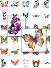 tattoos butterflies-Butterfly Tattoos-Ladies & Tattoo Artists! Would You Like To Get Your Hands On Over 100 Rare And Beautiful Colorful Butterfly Tattoos?