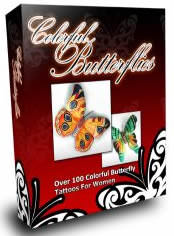 Butterfly Tattoos-Ladies & Tattoo Artists! Would You Like To Get Your Hands On Over 100 Rare And Beautiful Colorful Butterfly Tattoos?