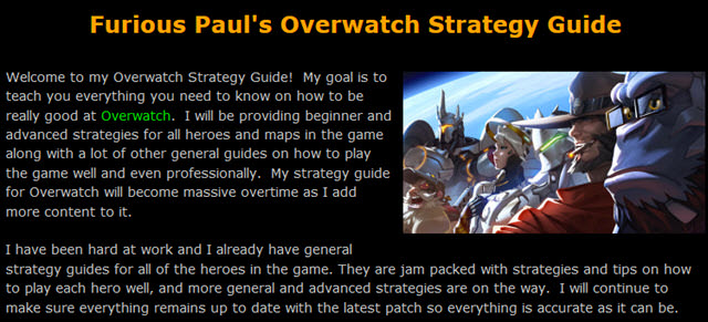 Furious Paul's Overwatch Strategy Guide
