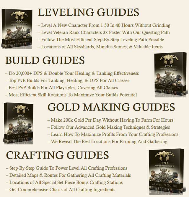 ESO MASTERY Gold Making Guides