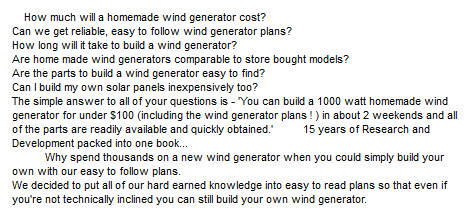 Build A Wind Generator And Solar Panels