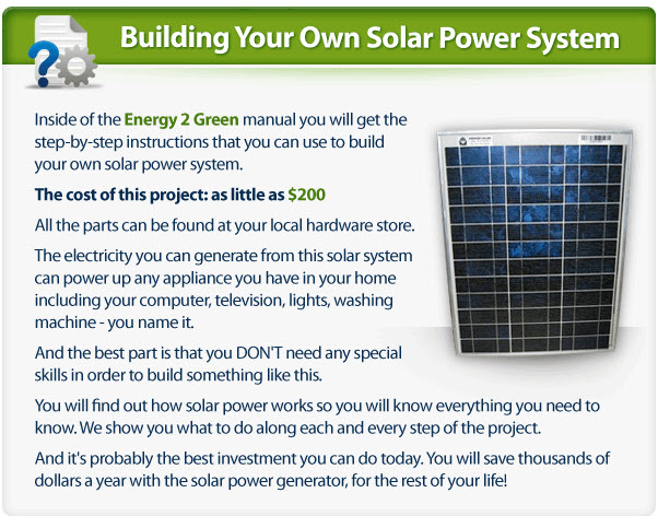 Building Your Own Solar Power System