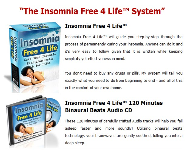 Insomnia Free 4 Life System