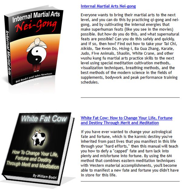 Internal Martial Arts Nei-gong