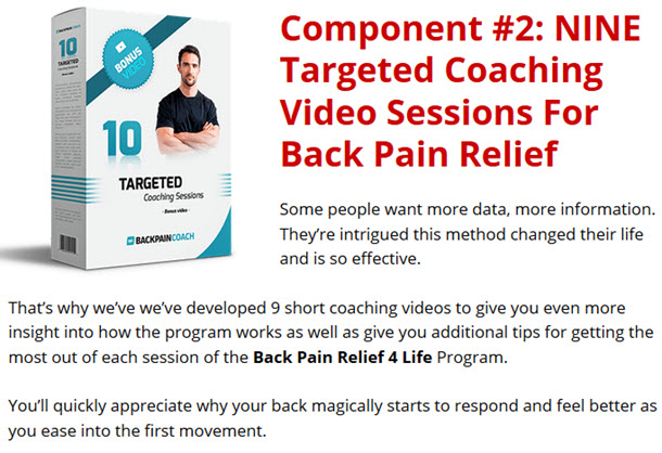 Targeted Coaching Video Sessions For Back Pain Relief