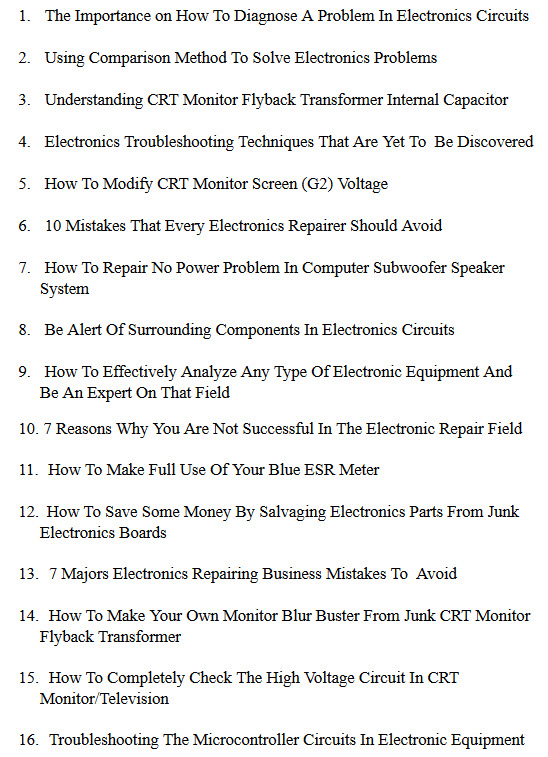 How To Diagnose A Problem In Electronics Circuits