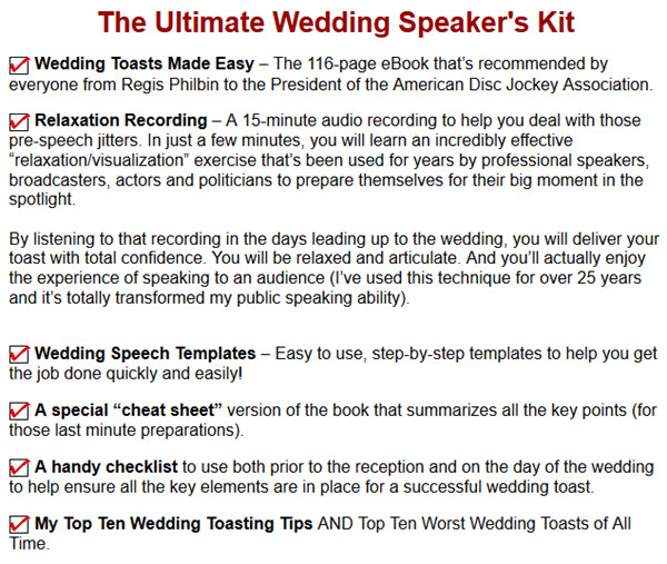 The Ultimate Wedding Speaker's Kit