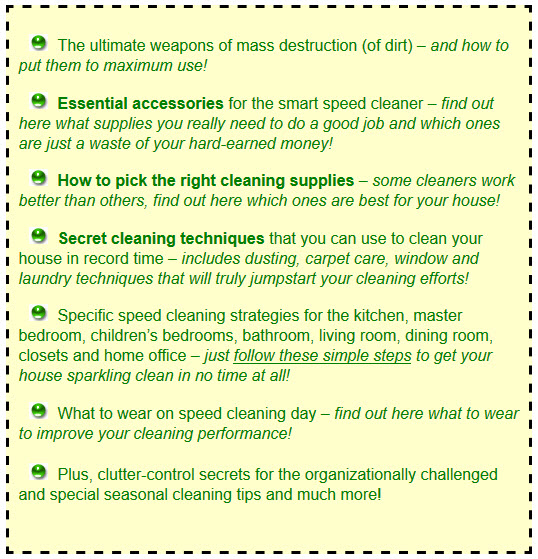 my speed cleaning secrets
