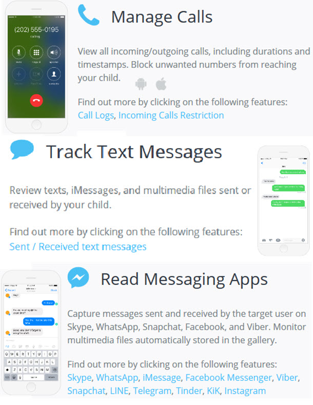 cell phone track text messages