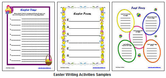 Easter Writing Activities Samples