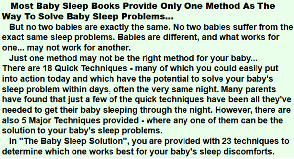 Solve Baby Sleep Problems