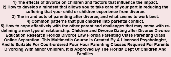 The Helping Children after Divorce Program: A Parent Education and Family Stabilization Course