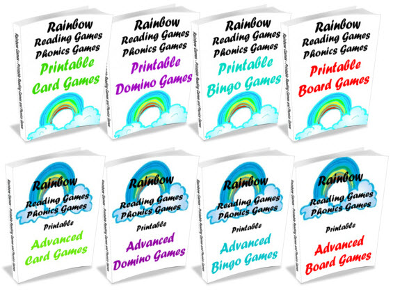 The Rainbow Printable Reading Games Collection