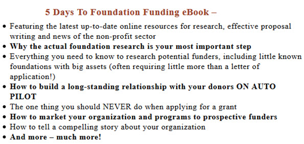 5 Days To Foundation Funding eBook