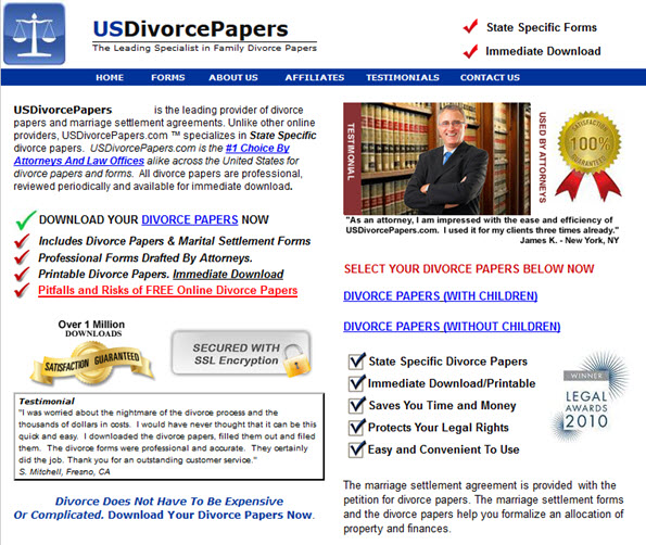 DOWNLOAD YOUR DIVORCE PAPERS NOW