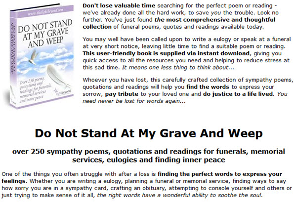 Over 250 funeral poems