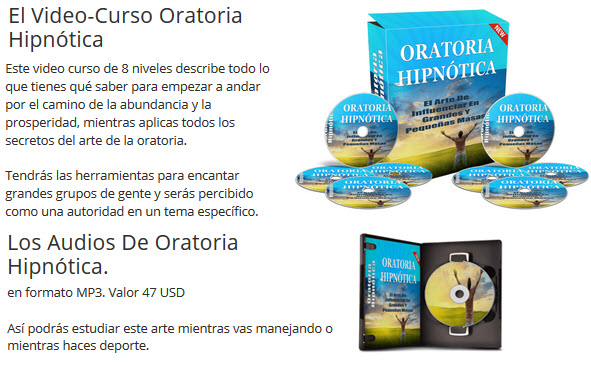 El Video-Curso Oratoria Hipnótica