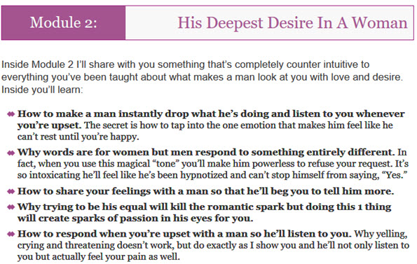 His Deepest Desire In A Woman
