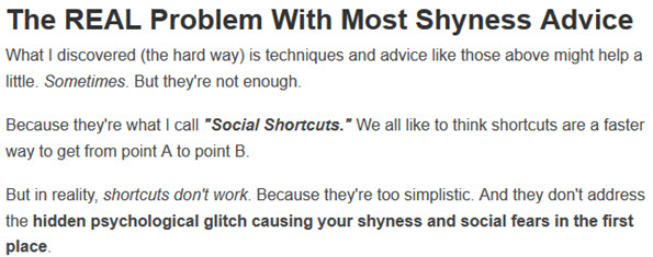 Most Shyness Advice