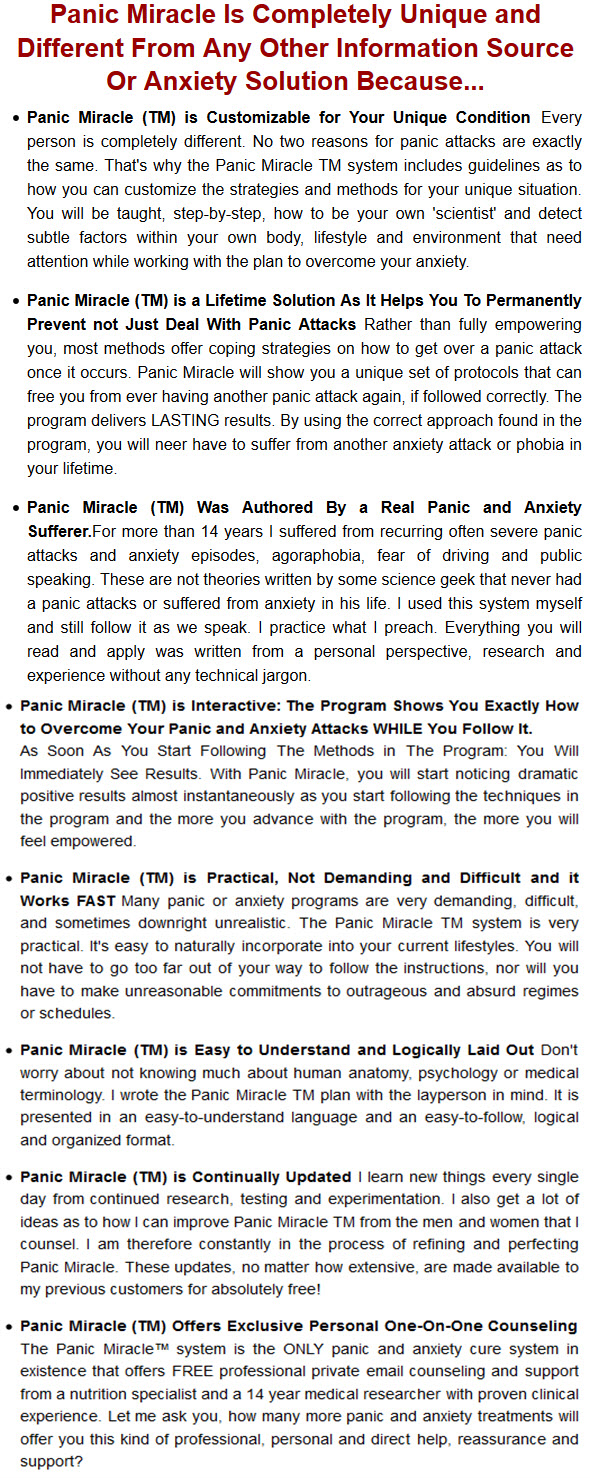 Panic Miracle Anxiety Solution