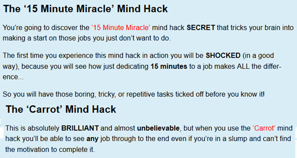 The '15 Minute Miracle' Mind Hack