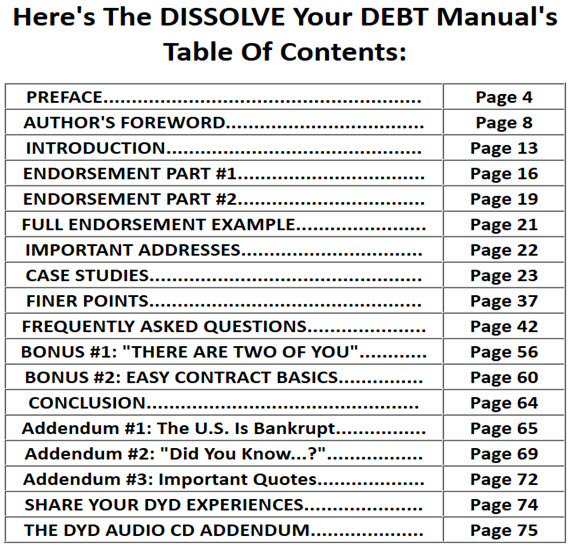 The DISSOLVE Your DEBT Manual's