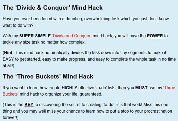 The 'Divide & Conquer' Mind Hack